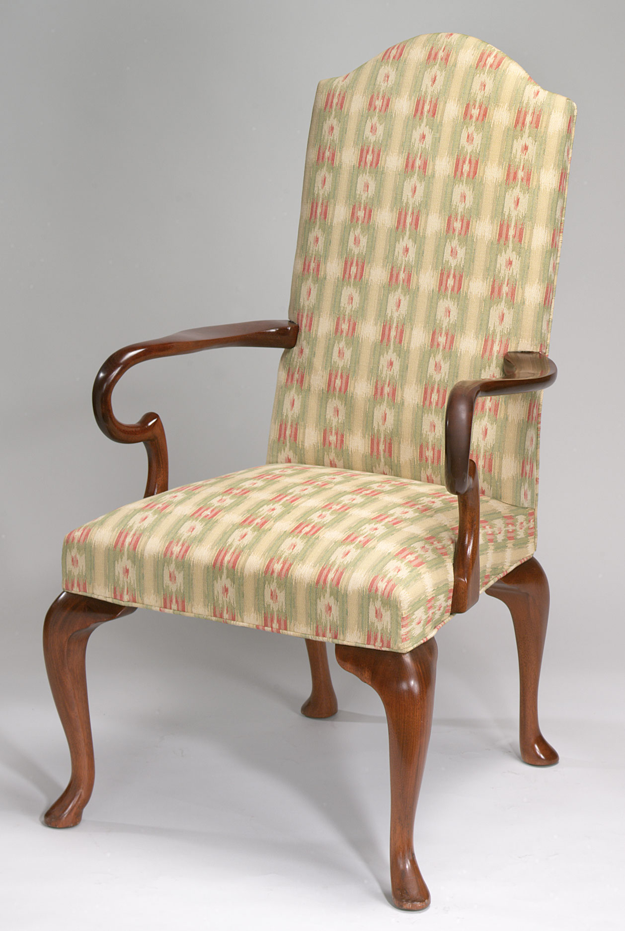 Upholstered Queen Anne Style Chair. & Upholstered Queen Anne Style Chair. | Wood and Hogan