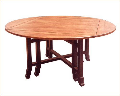 Attrayant Japanese Country Table, Square To Round,
